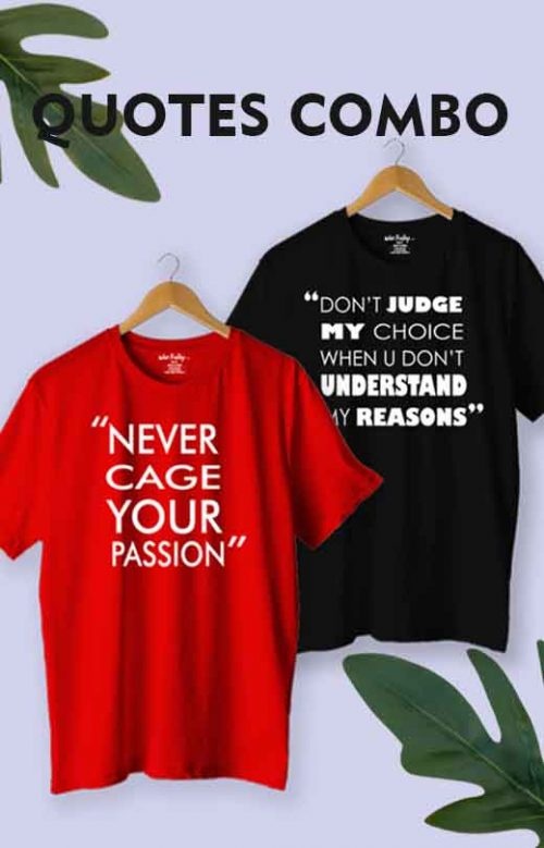 Motivational Quotes T shirt Combo Pack