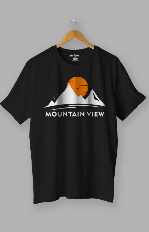 Mountain T shirt Black