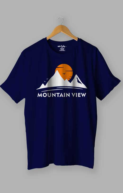 Mountain T shirt Blue