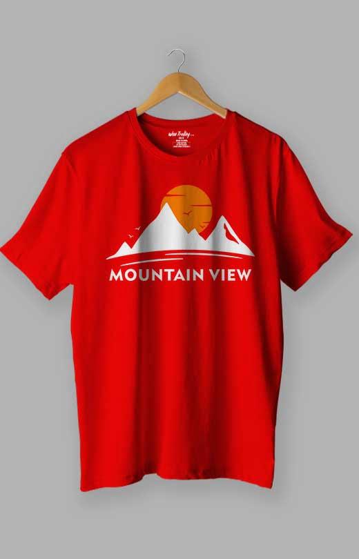 Mountain T shirt Red
