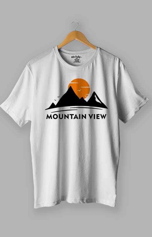 Mountain T shirt White