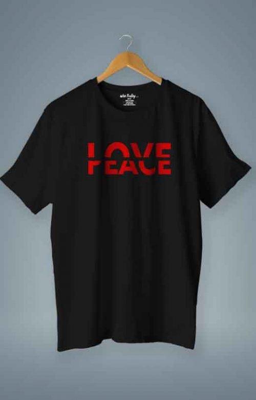Love Peace T shirt Black