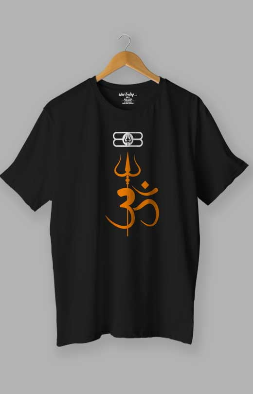Om T shirt Black