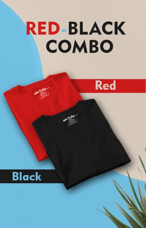 Red-Black T shirt Dual Combo Pack
