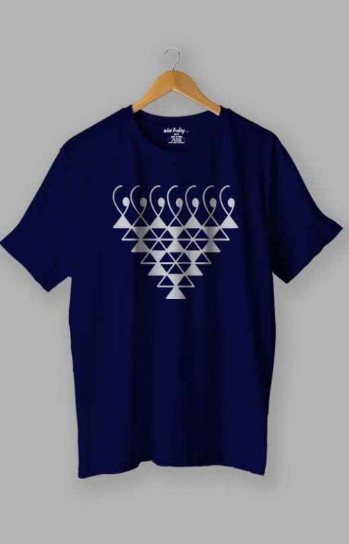 Saraswati Symbol T-Shirt Blue