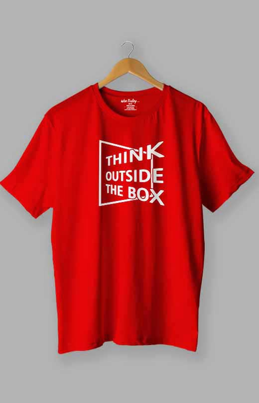 Think Outside The Box T shirt Red