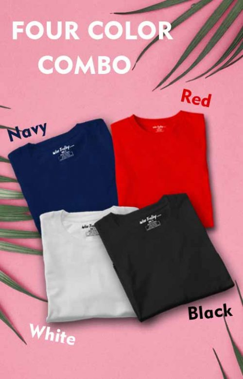 Four T shirt Pack Combo