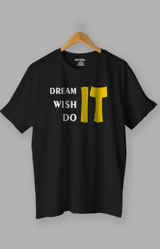 T-shirt with Inspirational Sayings Black