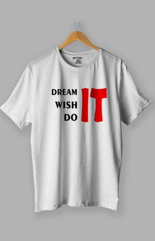 T-shirt with Inspirational Sayings White