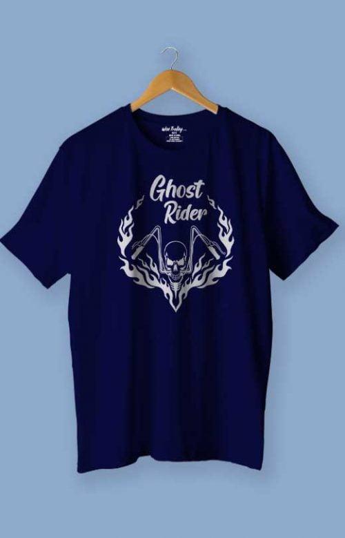 Ghost Rider T shirt Blue