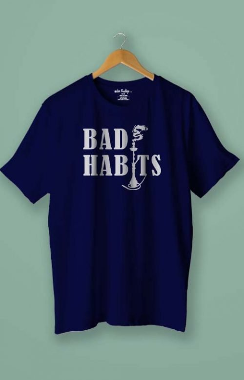 Bad Habits T shirt Blue