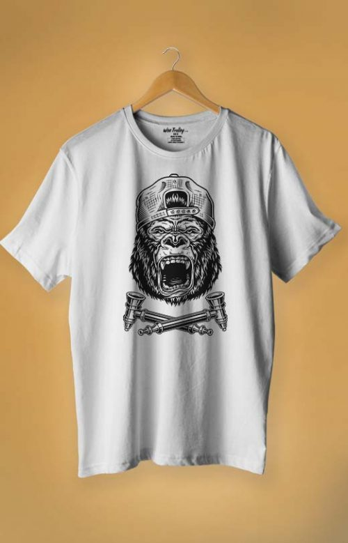 Aggressive T shirt White