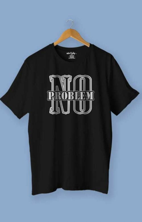No Problem T shirt Black