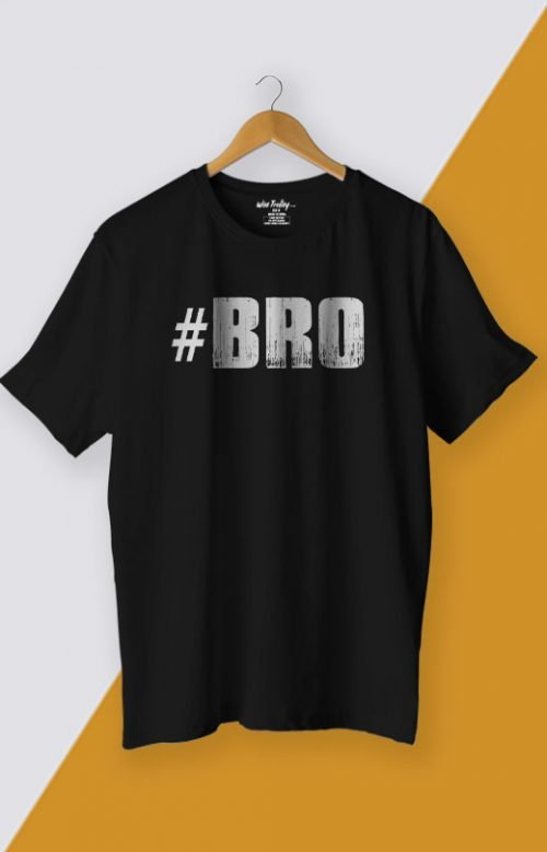 Bro T shirt for Men Black