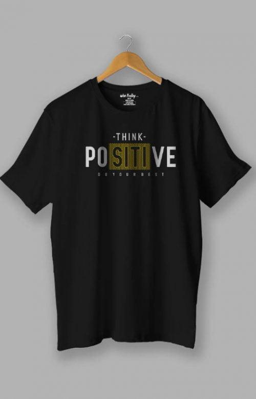 Positive Message T shirt Blue