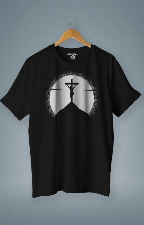Jesus Cross T shirt Black