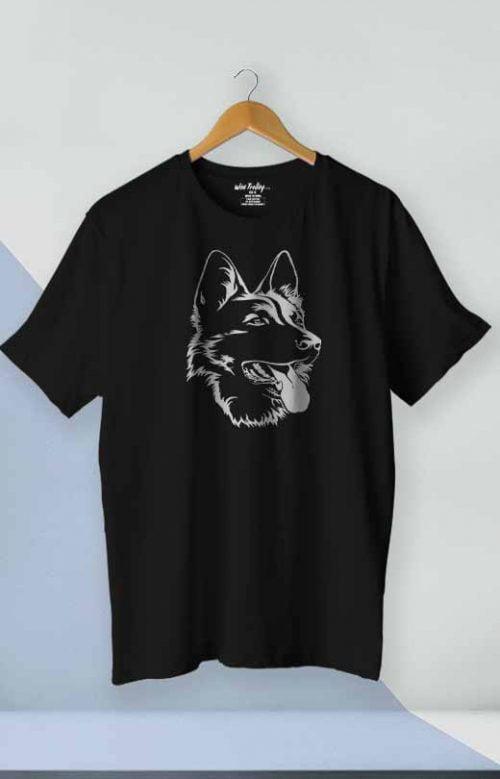 German Shepherd T shirt Black